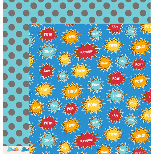 American Crafts - Pebbles - Party with Amy Locurto - 12 x 12 Double Sided Paper - Kaboom