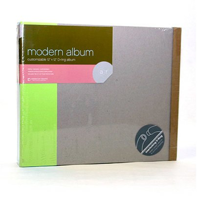 American Crafts - Modern Album - Customizable 12 x 12 D-Ring - Green