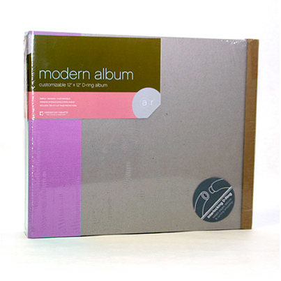 American Crafts - Modern Album - Customizable 12x12 D-Ring - Purple, CLEARANCE
