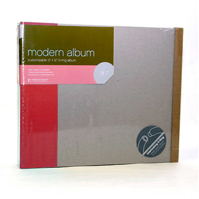 American Crafts - Modern Album - Customizable 12x12 D-Ring - Red