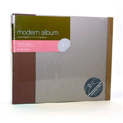 American Crafts - Modern Album - Customizable 12x12 D-Ring - Brown