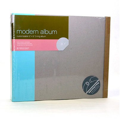 American Crafts - Modern Album - Customizable 12x12 D-Ring - Blue