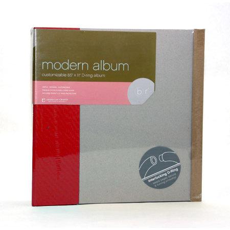 American Crafts - Modern Album - Customizable 8.5x11 D-Ring - Red