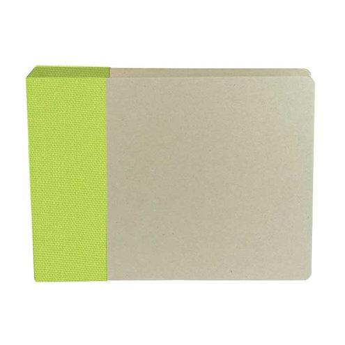 American Crafts - Modern Album - Customizable 6x6 D-Ring Album - Green