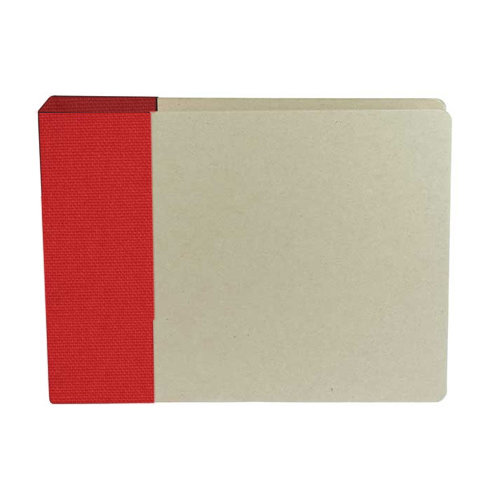 American Crafts - Modern Album - Customizable 6x6 D-Ring Album - Red