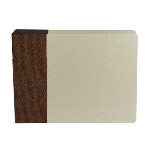 American Crafts - Modern Album - Customizable 6x6 D-Ring Album - Brown
