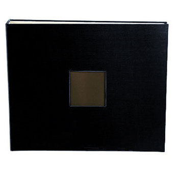 American Crafts - Cloth Album - 12x12 D-Ring Album - Black