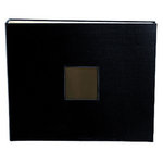 American Crafts - Cloth Album - 12 x 12 D-Ring Album - Black