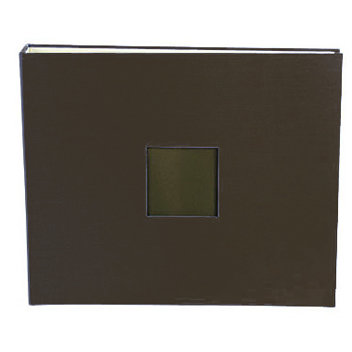 American Crafts - Cloth Album - 12 x 12 D-Ring Album - Chestnut