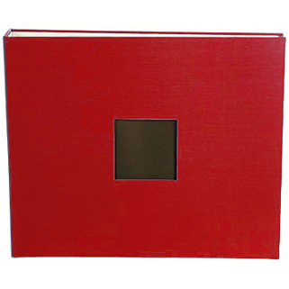 American Crafts - Cloth Album - 12x12 D-Ring Album - Cardinal