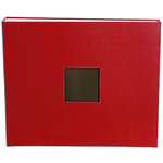 American Crafts - Cloth Album - 12 x 12 D-Ring Album - Cardinal