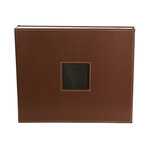 American Crafts - Leather Album - 12 x 12 - D-Ring - Brown