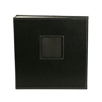 American Crafts - Leather Album - 8.5x11 - D-Ring - Black