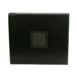 American Crafts - Leather Album - 12 x 12 - Post Bound - Black