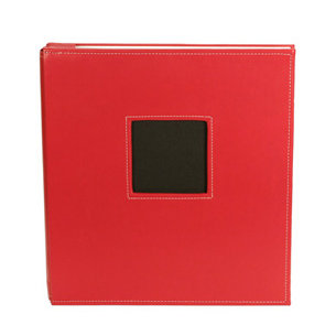 American Crafts - Leather Album - 8.5x11 - Post Bound - Red
