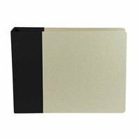 American Crafts - Modern Album - Customizable 12 x 12 D-Ring Album - Black