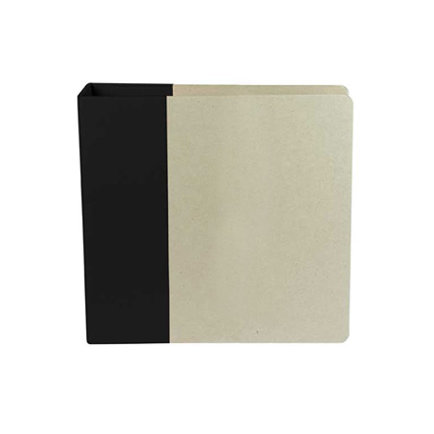 American Crafts - Modern Album - Customizable 8.5 x 11 D-Ring Album - Black
