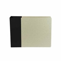 American Crafts - Modern Album - Customizable 6 x 6 D-Ring Album - Black