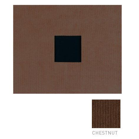 American Crafts - Corduroy Album - 12x12 D-Ring Album - Chestnut