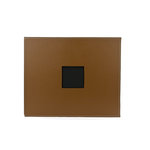American Crafts - Faux Leather Album - 12 x 12 - D-Ring - Chestnut