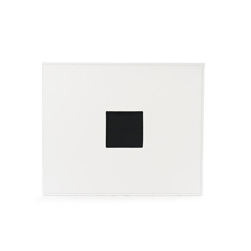 American Crafts - Faux Leather Album - 12 x 12 - D-Ring - White
