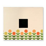 American Crafts - Patterned Cloth Album - 12 x 12 D-Ring - Vanilla with Printed Flowers