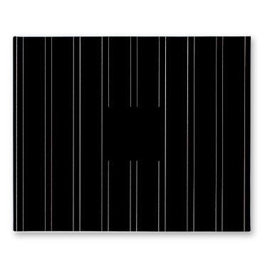 American Crafts - Patterned Cloth Album - 12 x 12 D-Ring - Black with Printed Pin Stripes