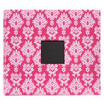American Crafts - Patterned Album - 12 x 12 - Post Bound - Dark Pink Light Pink Damask