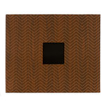 American Crafts - Patterned Album - 12 x 12 D-Ring - Woodgrain Chevron 2