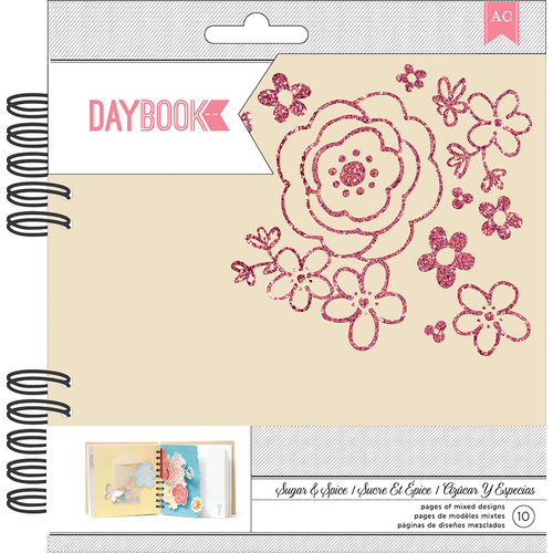 American Crafts - My Girl Collection - Daybook - Spiral - Sugar and Spice