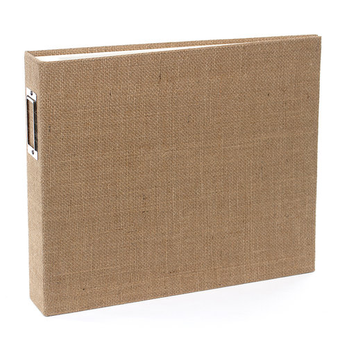 American Crafts - Textured Album - 12 x 12 D-Ring - Burlap