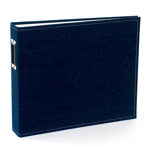 American Crafts - Textured Album - 12 x 12 D-Ring - Denim