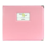 American Crafts - Pebbles - 12 x 12 Share and Tell Albums - Baby Pink