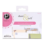 American Crafts - Pebbles - Share and Tell Collection - Journaling Cards - Travel