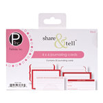 American Crafts - Pebbles - Share and Tell Collection - Journaling Cards - Red