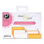 American Crafts - Pebbles - Share and Tell Collection - Journaling Cards - Orange