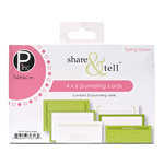 American Crafts - Pebbles - Share and Tell Collection - Journaling Cards - Spring Green