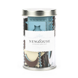 American Crafts - Newhouse - Chipboard - Baby Blue