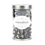 American Crafts - Townhouse - Chipboard - Elegant Silver