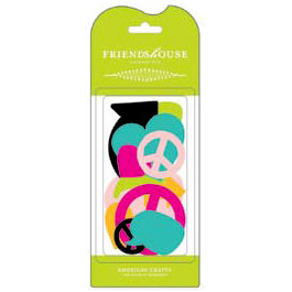American Crafts - Teen Collection - Chipboard Pieces - Friends House - Teen, CLEARANCE