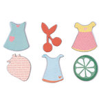 American Crafts - Dear Lizzy Spring Collection - SpringHouse - Printed Chipboard Shapes