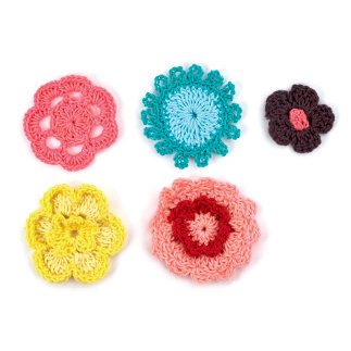 American Crafts - Dear Lizzy Spring Collection - SpringHouse - Crochet Flowers