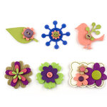 American Crafts - Details - Layered Embellishment Stickers - Color Set 1, CLEARANCE