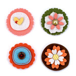 American Crafts - Dear Lizzy Spring Collection - Details - Felt Pieces - Chatter, CLEARANCE