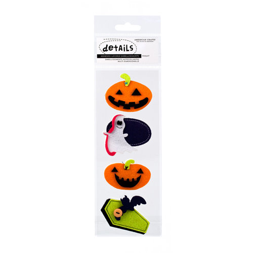 American Crafts - Boo Collection - Halloween - Details - Felt Pieces -  Fright