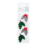 American Crafts - Dear Lizzy Christmas Collection - Details - Felt Pieces with Glitter Accents - Tradition