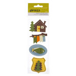 American Crafts - Campy Trails Collection - Details - Felt Pieces - River