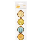 American Crafts - Amy Tangerine Collection - Details - Chipboard and Canvas Layered Pieces - Let's Hang