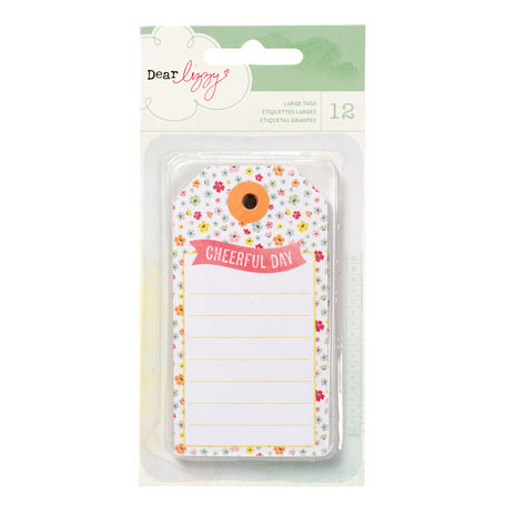 American Crafts - Dear Lizzy Neapolitan Collection - Bits - Decorative Tags - Large