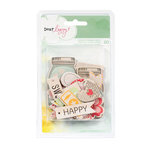 American Crafts - Dear Lizzy Neapolitan Collection - Printed Chipboard Pieces - Shapes